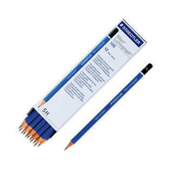Staedtler Mars Lumograph Pencils 5H | Crafts Village HUB