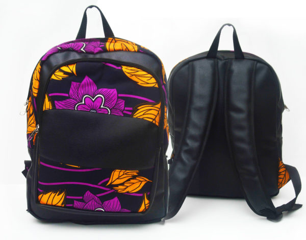 Shop for this Ankara Backpack | Floral Fabric
