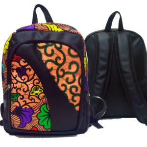 Ankara backpack | Multi-floral colour