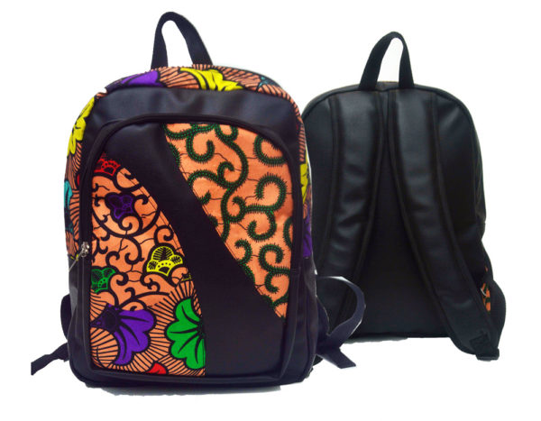 Ankara backpack | Multi-floral colour