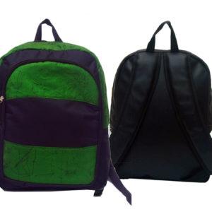 Ankara Backpack | Green Fabric