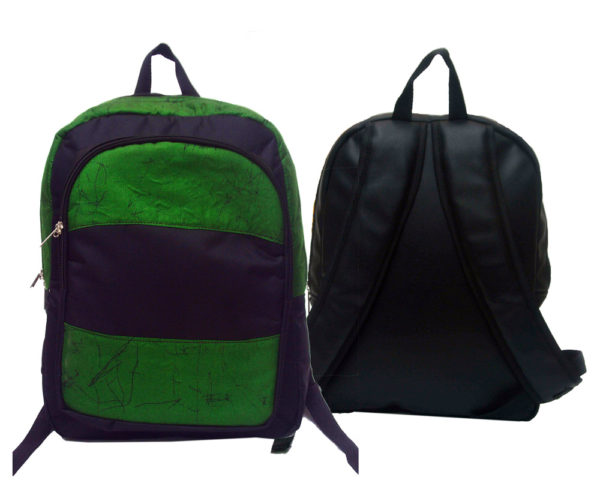 Ankara Backpack | Green Fabric