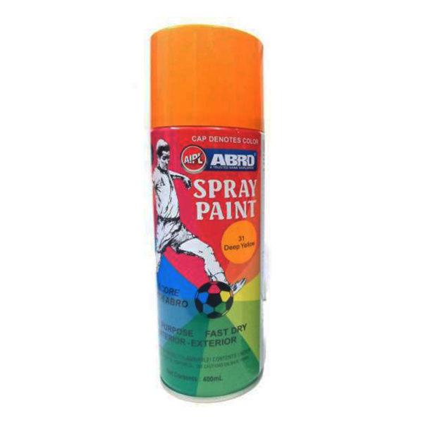 Abro Spray Paint | Deep Yellow 400ml