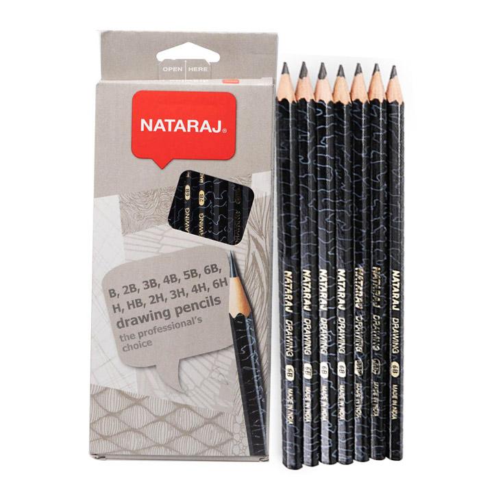 Nataraj Drawing Pencils | Set of 12 Different Grades ...