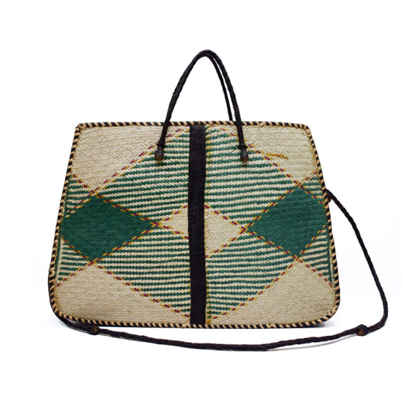 Green Raffia Tote Bag