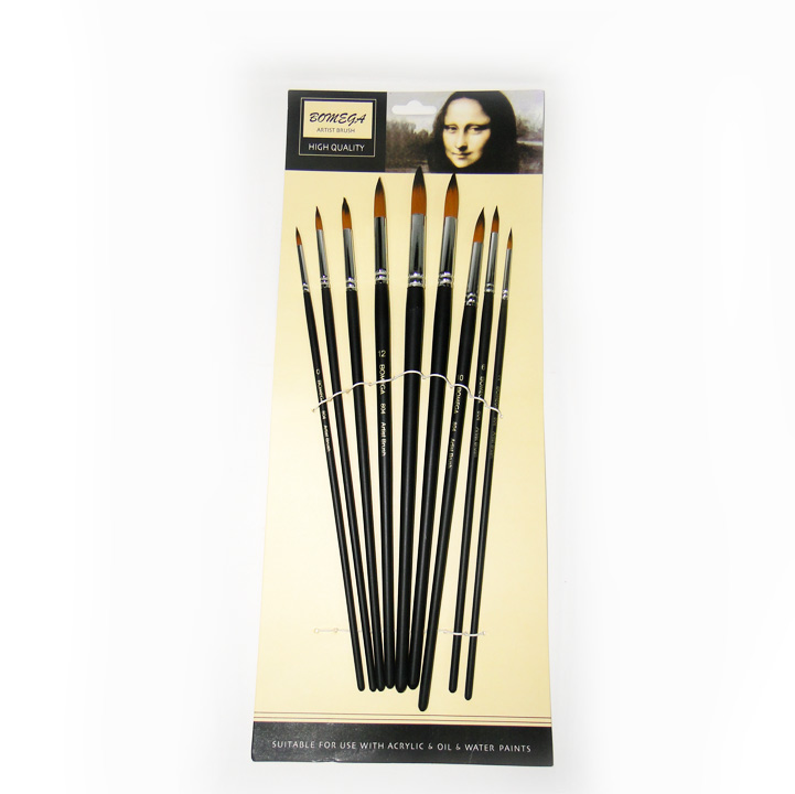 Bomega Artist Round Brush Set