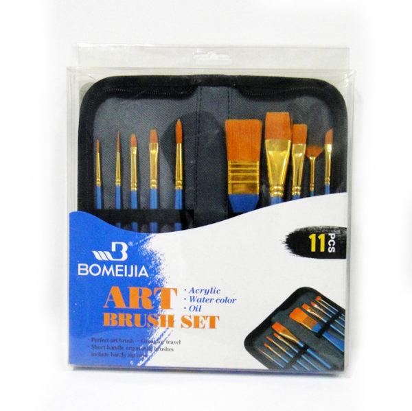 Bomeijia Zipped Case Paintbrush Set
