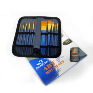 Bomeijia Zipped Case Paintbrush Set