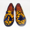 Ladies Yellow Ankara Sneakers with Tassels