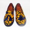Ladies Yellow Ankara Sneakers with Tassels