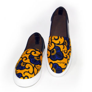 Men's 2-Pattern Ankara Sneakers
