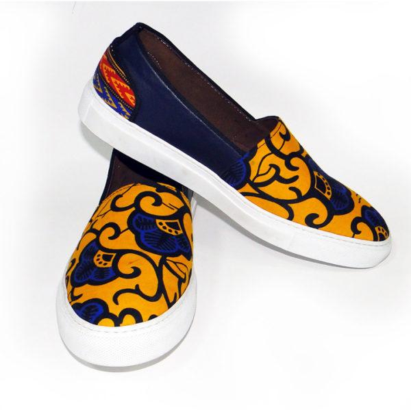Men's 2-Pattern Ankara Sneakers