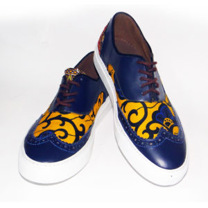 Men's Yellow Ankara Brogues