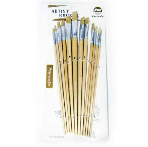 Panwembo Artist Hard Bristle Brush Set