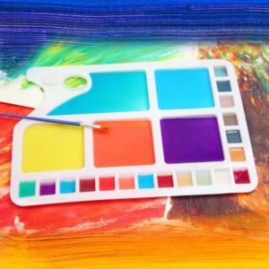 plastic rectangle paint palette