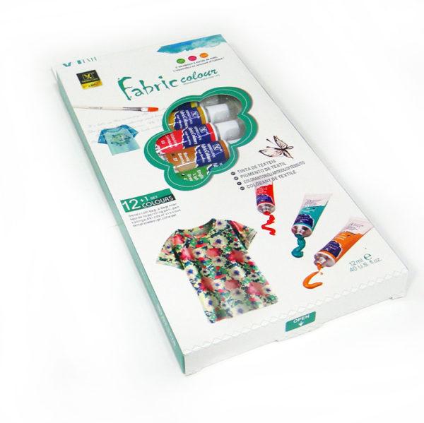Yipinxuan Fabric Colour Paint Set | 12 Tubes