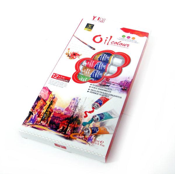 Yipinxuan Oil Colour Paint Set | 12 Tubes