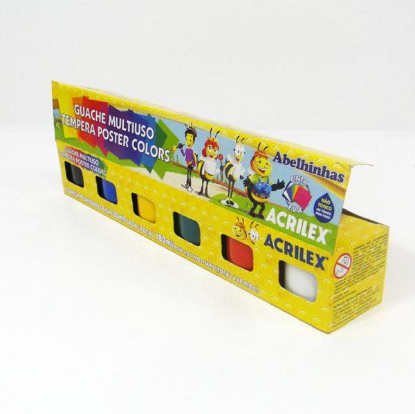 Acrilex 6pcs Kids Gouache Poster Colours
