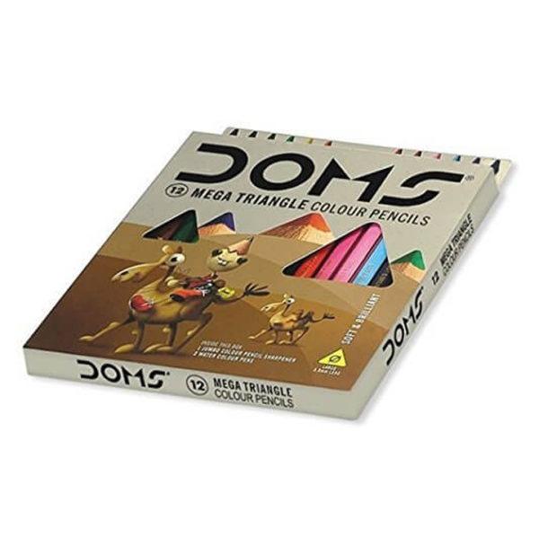 DOMS Mega Triangle Colour Pencils