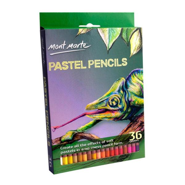 36Pcs Mont Marte Pastel Pencils Set