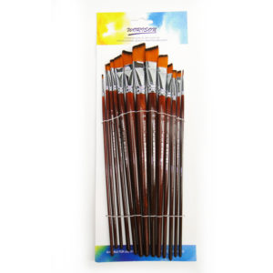 Worison Artist 13pcs Angle Paintbrush Set