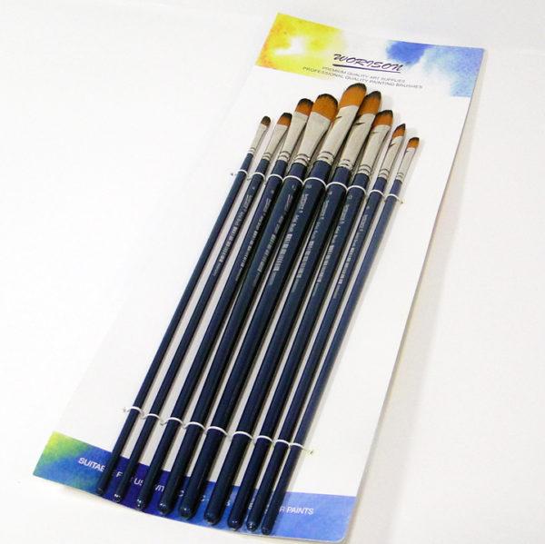 Worison Artist Filbert Paintbrushes