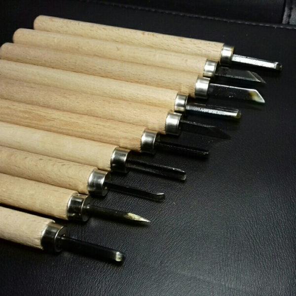 Yinpinxuan 10pcs Woodcut Knife