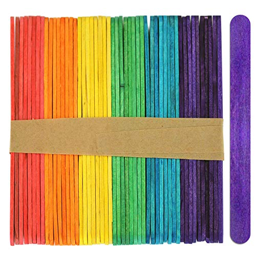 Multicoloured Wood Craft Sticks