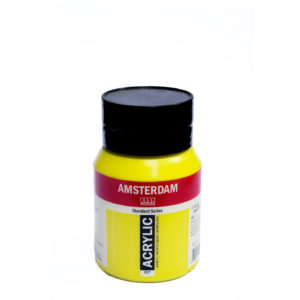 500ml Amsterdam Acrylic Paint - Azo Yellow Medium