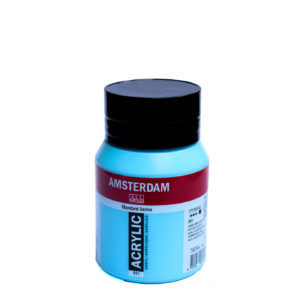 500ml Amsterdam Acrylic Paint - Sky Blue Light