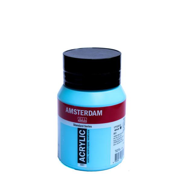 500ml Amsterdam Acrylic Paint - Sky Blue Light
