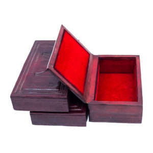 African Mini Leather Box