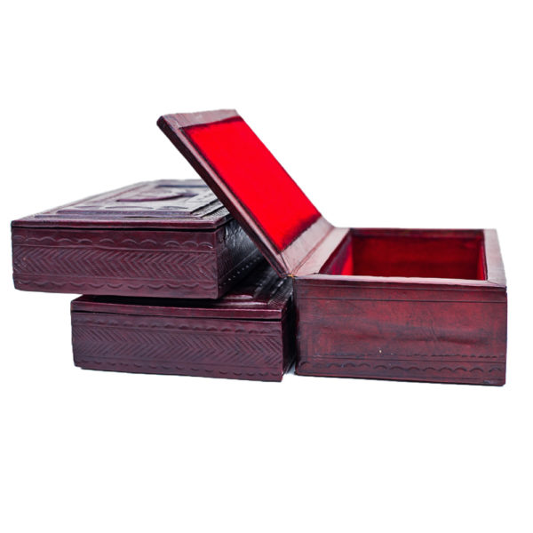 African Mini Leather Box
