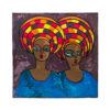 36x36' Owambe Gele Acrylic Painting