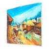 35x35' Village Scene Acrylic Painting