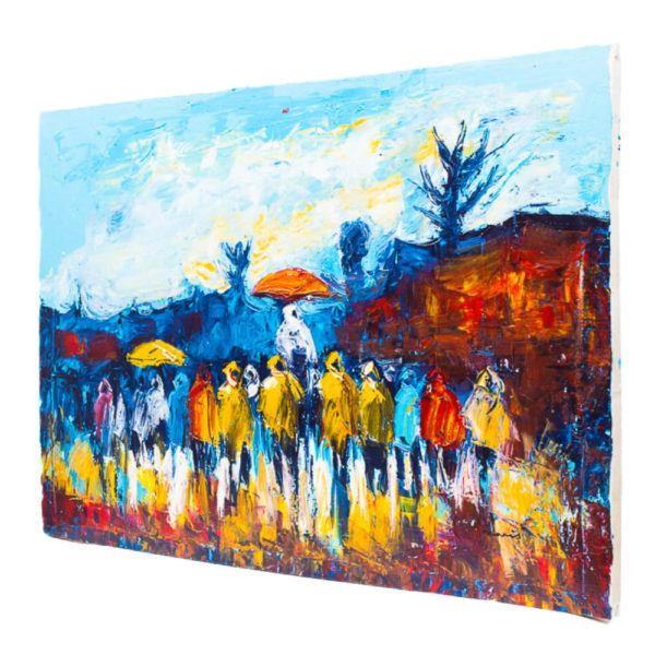 48x36' Durbar Acrylic Painting
