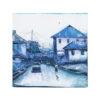 16x15' Monochrome Townscape Painting