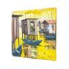 22x21' Makoko Waterfront Acrylic Painting