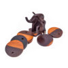 Elephant Handcrafted Wooden Coasters Set