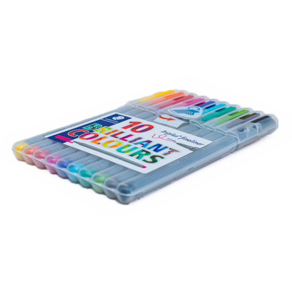 10pcs Steadtler Triplus Fineliner Pen Set