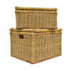Handwoven Raffia Box Set with Lid