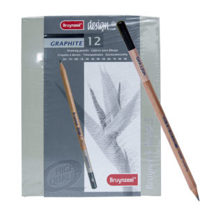 12pcs Bruynzeel Design Graphite Pencils Set