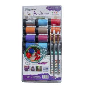 24pcs Giorgione Acrylic Paint & Brush Set