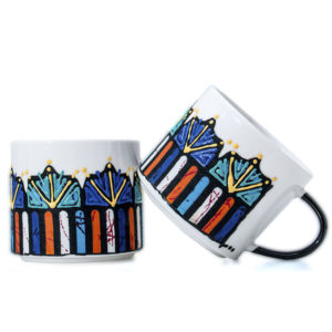Blue Handcrafted African Coffee Mugs