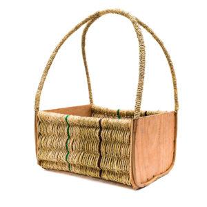 Long Handle Raffia Shopping Basket
