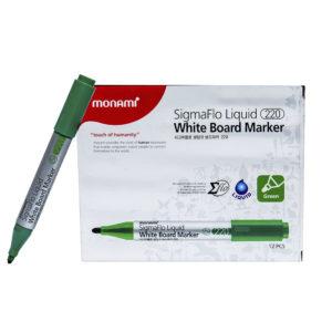 Green Monami SigmaFlo Liquid White Board Marker