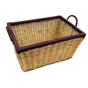 Raffia Basket with Brown Tip