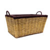 Raffia Basket with Brown Tip