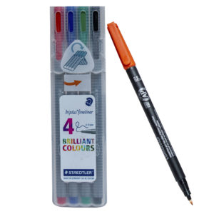 4pcs Staedtler Triplus Fineliner Pen Set