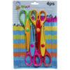 4pcs Crafts Pattern Scissors Set